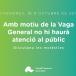 Vaga General 18/10/2019: Establiment de serveis mínims o essencials