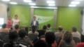 El president del Consell Comarcal de la Selva, Salvador Balliu, entrega els títols els treballadors del programa Treball i Formació