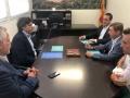 El delegat del Govern de la Generalitat a Girona, Pere Vila, fa una visita institucional al Consell Comarcal de la Selva
