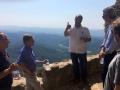 El subdelegat del govern de l'Estat espanyol a Girona visita el castell de Montsoriu