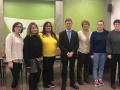 El president del Consell Comarcal, Salvador Balliu, agraeix el treball realitzat per les persones de l'Enfeina't