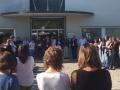 Concentració de rebuig dels treballadors del Consell per l'empresonament de Jordi Cuixart i Jordi Sànchez