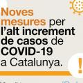 La Generalitat de Catalunya decreta noves mesures de reducció interecció social i mobilitat