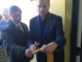 El president del Consell Comarcal de la Selva, Salvador Balliu, inaugura la nova seu de Serveis Socials de Vidreres