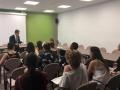 El president del Consell Comarcal de la Selva, Salvador Balliu, entrega els títols als joves dels programes Joves per l'Ocupació i Fem Ocupació per a Joves 2016