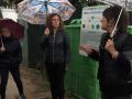 """Els alcaldes de la zona del Ter Brugent es desplacen a Riudellots de la Selva per conèixer """"in situ"""" el funcionament del sistema de recollida de residus Porta a Porta"""